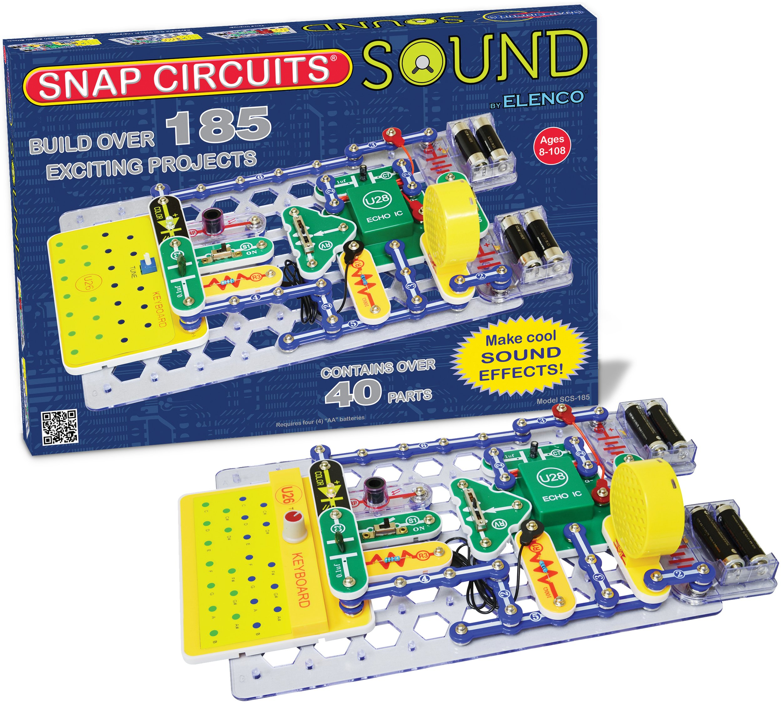 Snap Circuits Sound Electronics Exploration Kit | 185 Fun STEM Projects | 4-Color Project Manual | 40+  Snap Modules | Unlimited Fun by Snap Circuits