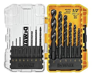 DeWalt DWA1184 - Juego de brocas HSS con revestimiento de óxido negro, 14 piezas: Amazon.es: Industria, empresas y ciencia