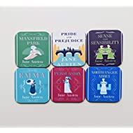 Jane Austen Books Coaster Set of 6 Jane Austen Gift Birthday Gift for Friend Pride and Prejudice