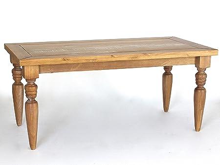 Tavolo da pranzo Angra in legno massiccio anticato, 180 x 90 ...