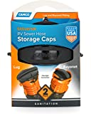 Camco RV Sewer Hose Storage Cap  Set - Lug and Bayonet Caps | Allows You to Seal Both Ends of Your Sewer Hose Before Storing | Odor and Leak Proof Connection - 2 Pack  (39752)
