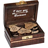 Artistic (TM - I Love You Gift of 15 Hearts with Beautiful Love Quotes Printed on Wooden Hearts, Unique Way to say I…