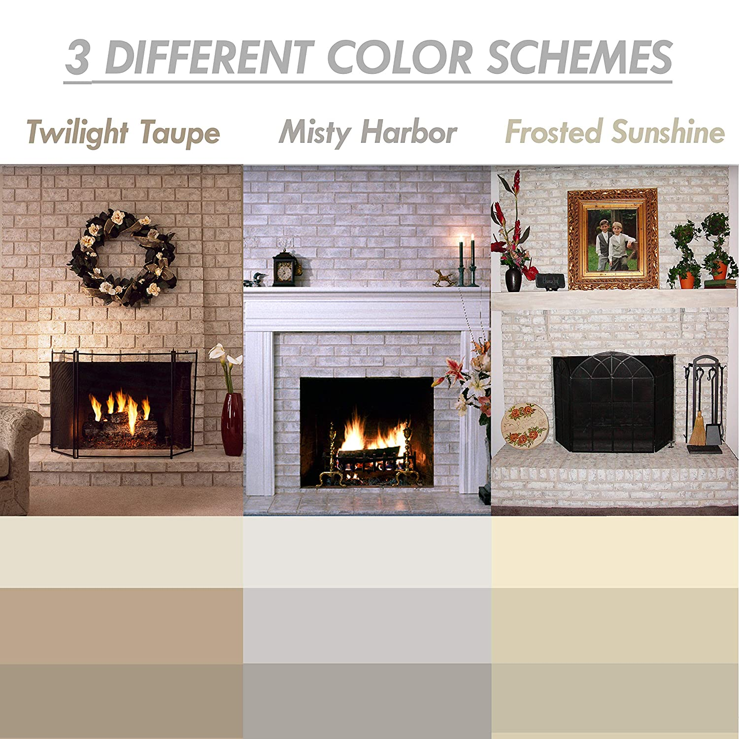 Brick Anew All In One Brick Fireplace Paint Kit Frosted Sunshine