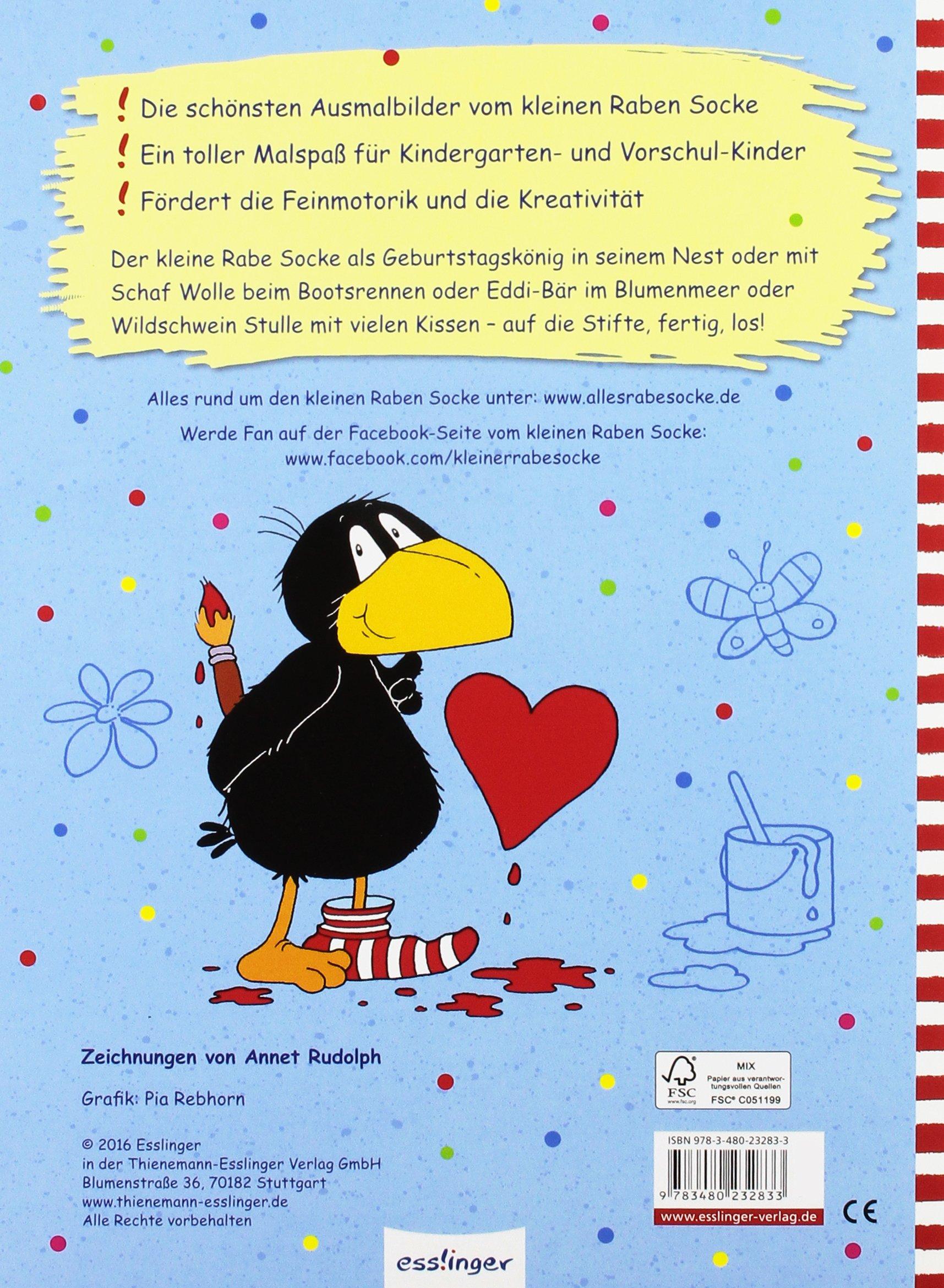 Der kleine Rabe Socke Alles malt – Jubiläums Malbuch vom kleinen Raben Socke Amazon Annet Rudolph Bücher
