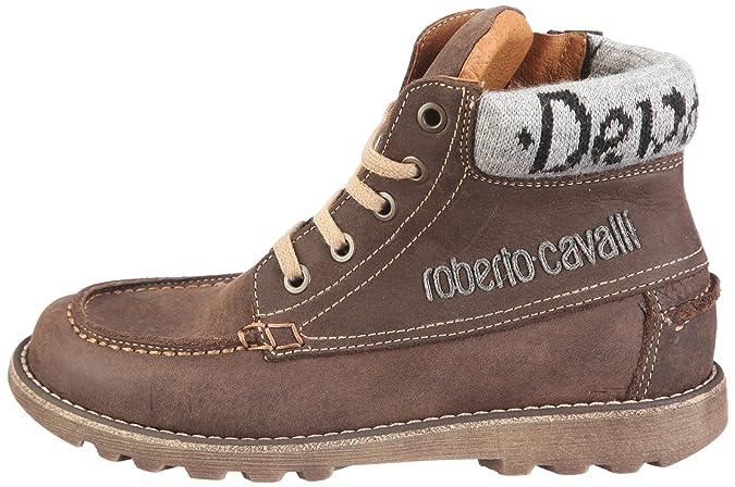 Roberto Cavalli Devils MDB 1705A, Sneaker bambino, Marrone (Braun/MOKA), 32