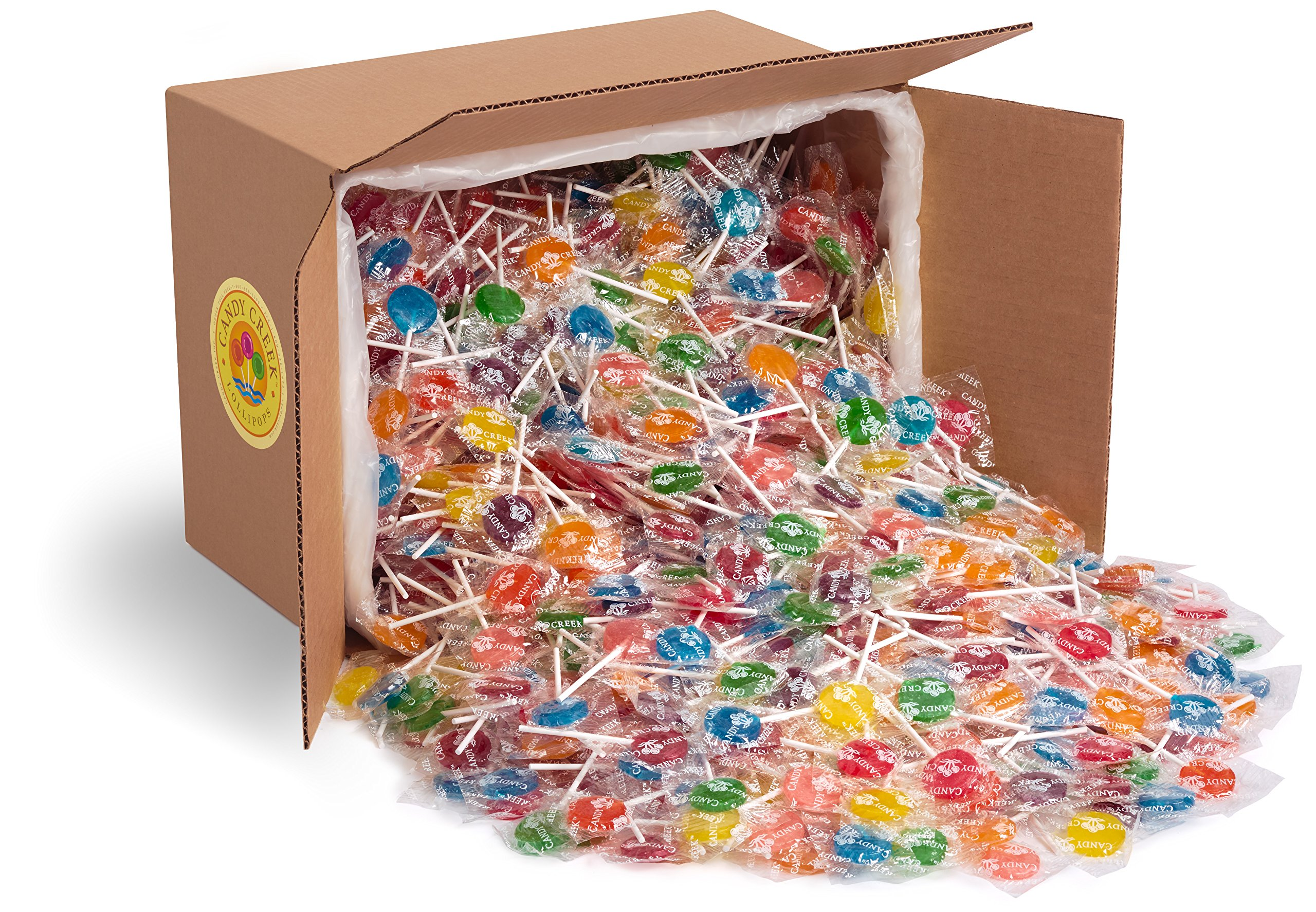 Fruit Lollipops by Candy Creek, Bulk 18 lb. Carton, No Rootbeer, Assorted Flavors by Candy Creek Lollipops