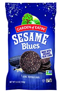 Garden of Eatin' Tortilla Chips, Sesame Blues, 5.5 oz (Pack of 12)