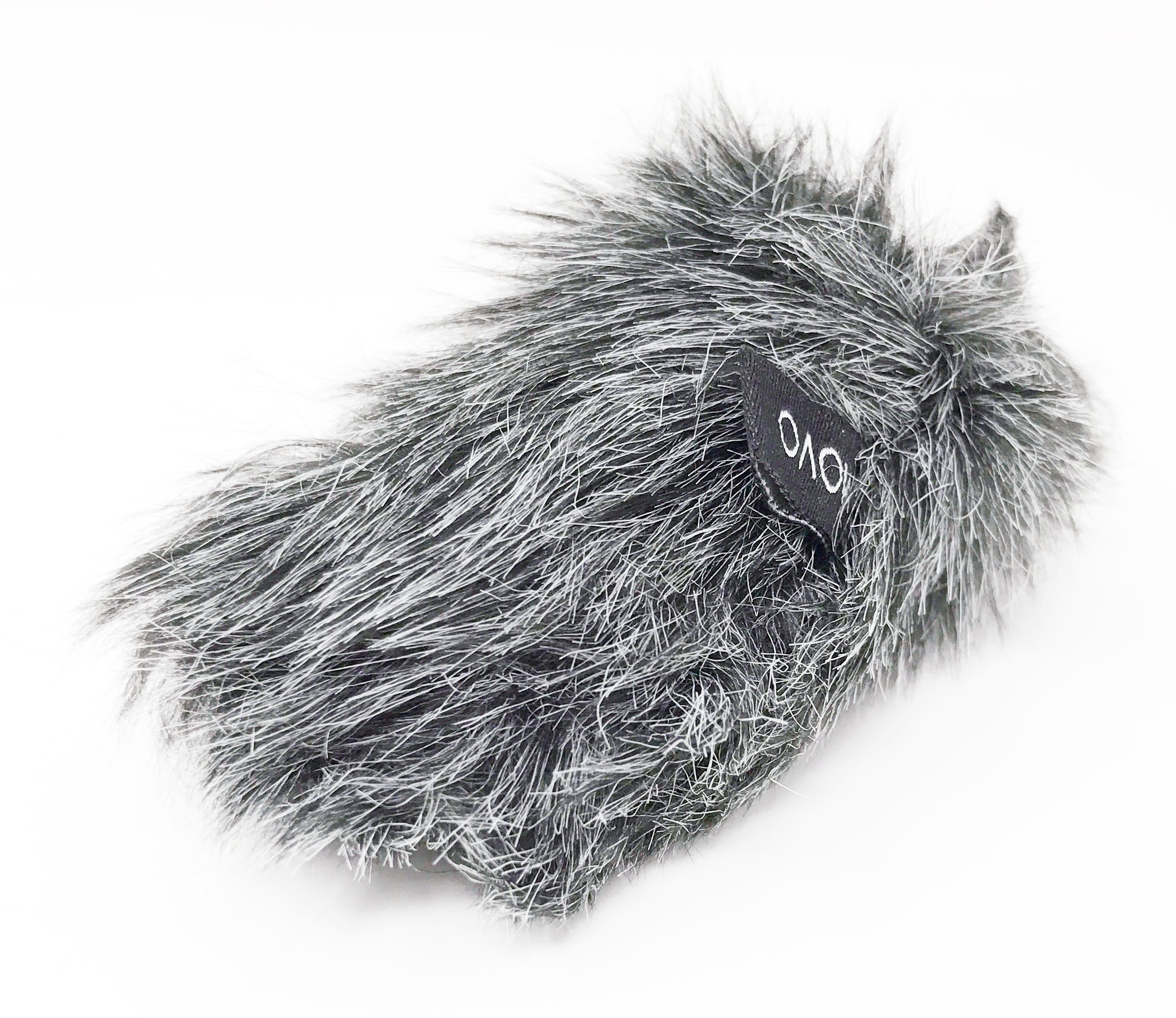 Movo WS-G6 Furry Outdoor Microphone Windscreen Muff Custom Fit for Sennheiser MKE 400 Shotgun Mic (Dark Gray)