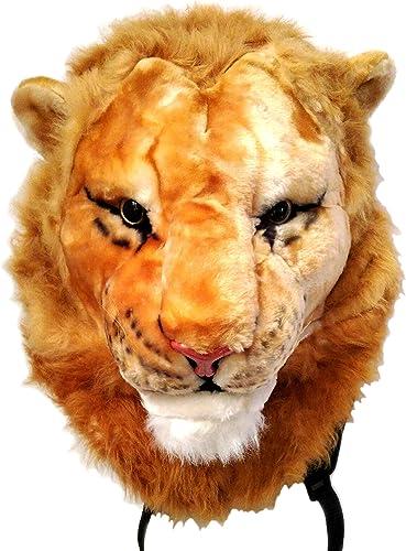 Glanzzeit 3D Animal Head Backpack Cool Design Panda Tiger Lion Panther Knapsack Large, Lion