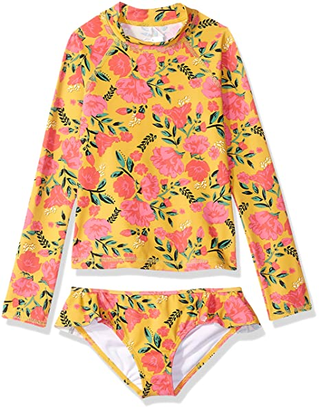 Billabong Girls Sun Dream Long Sleeve Rashguard Two Piece Swim Set