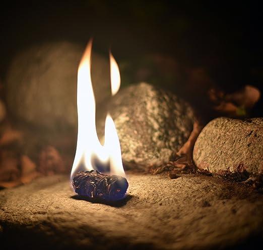 Encendedor de Llavero de Supervivencia al Aire Libre 2 Piezas de arrancador de Fuego de respiraci/ón de drag/ón Herramienta de Supervivencia Reutilizable de Arranque de Fuego de pedernal