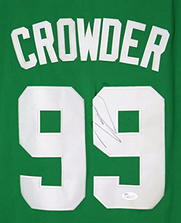 ... france jae crowder boston celtics signed autographed green 99 jersey  jsa coa a0fe1 a795f 9510a19c2