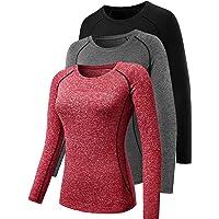 Cadmus Women's 3 Pack Running Compression Long Sleeve T Shirt