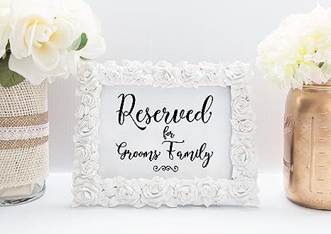 Amazon.com: Reservados para Grooms familia tarjeta de mesa ...