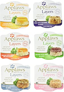 Applaws Grain Free Layers in Aspic Canned Cat Food 6 Flavor Variety Bundle, 2.47 Ounces