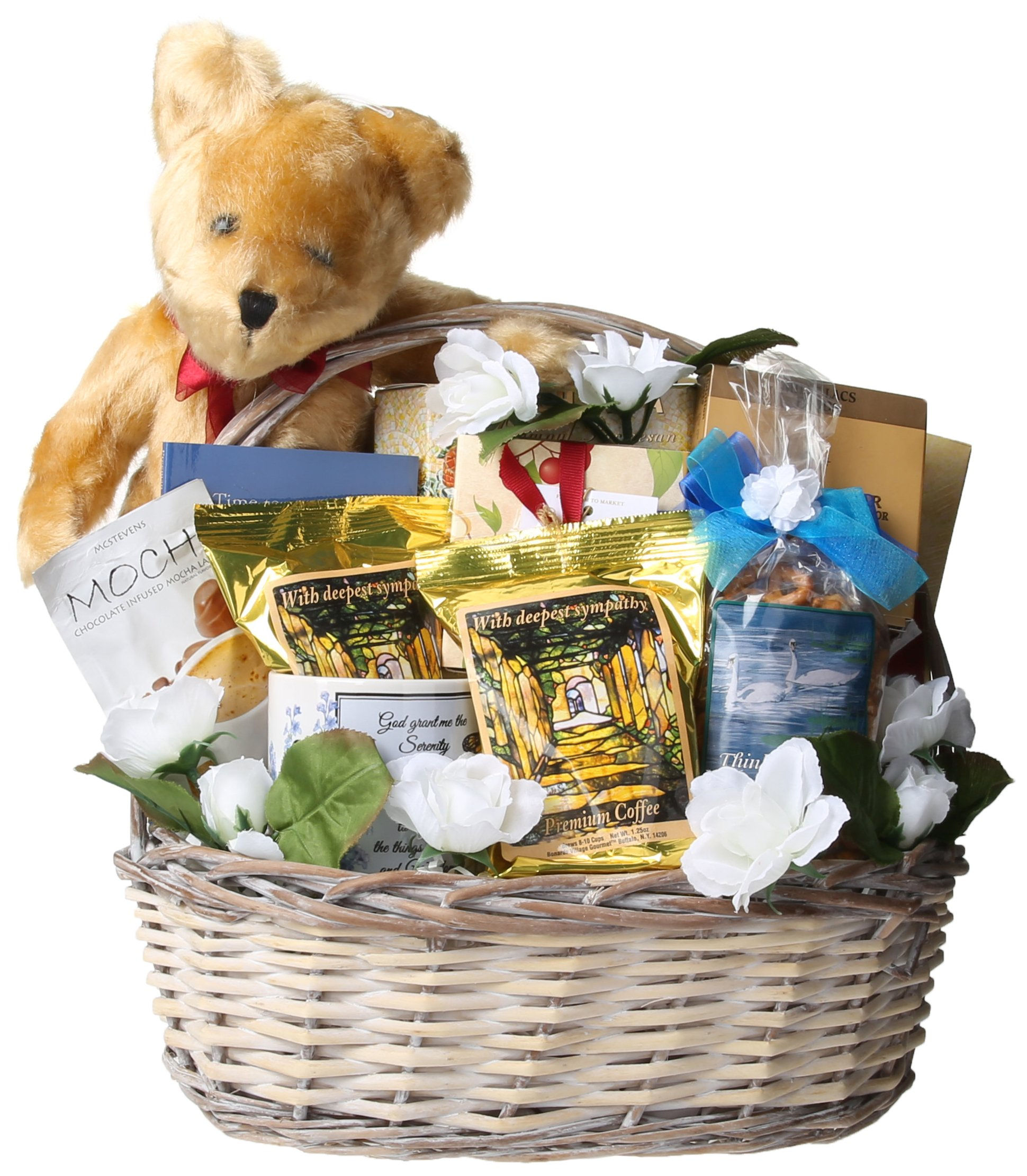Gift Basket Village - The Comfort Basket, A Bereavement/Sympathy Gift Basket   Comfort Those Grieving A The Loss Of A Loved One (Large)