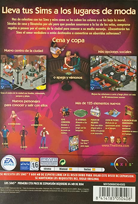 LOS SIMS PRIMERA CITA --- PACK DE EXPANSION --: Amazon.es: Videojuegos