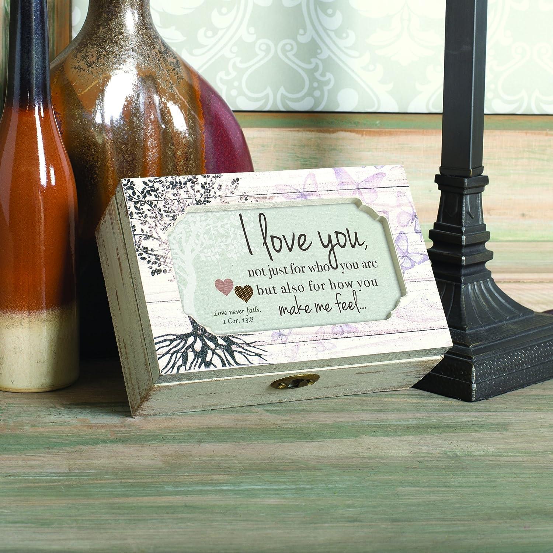 Cottage Garden I Love How You Make Me Feel Petite Tree Decoupage Music Box Plays How Great Thou Art