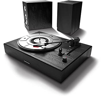 Sharper Image Sbt4001bk Bluetooth Streaming Turntable Sound System