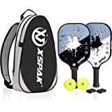 XS XSPAK Graphite Pickleball Paddle, Lightweight Graphite Honeycomb Composite Core Paddles Single Wrap or Sets of 2…