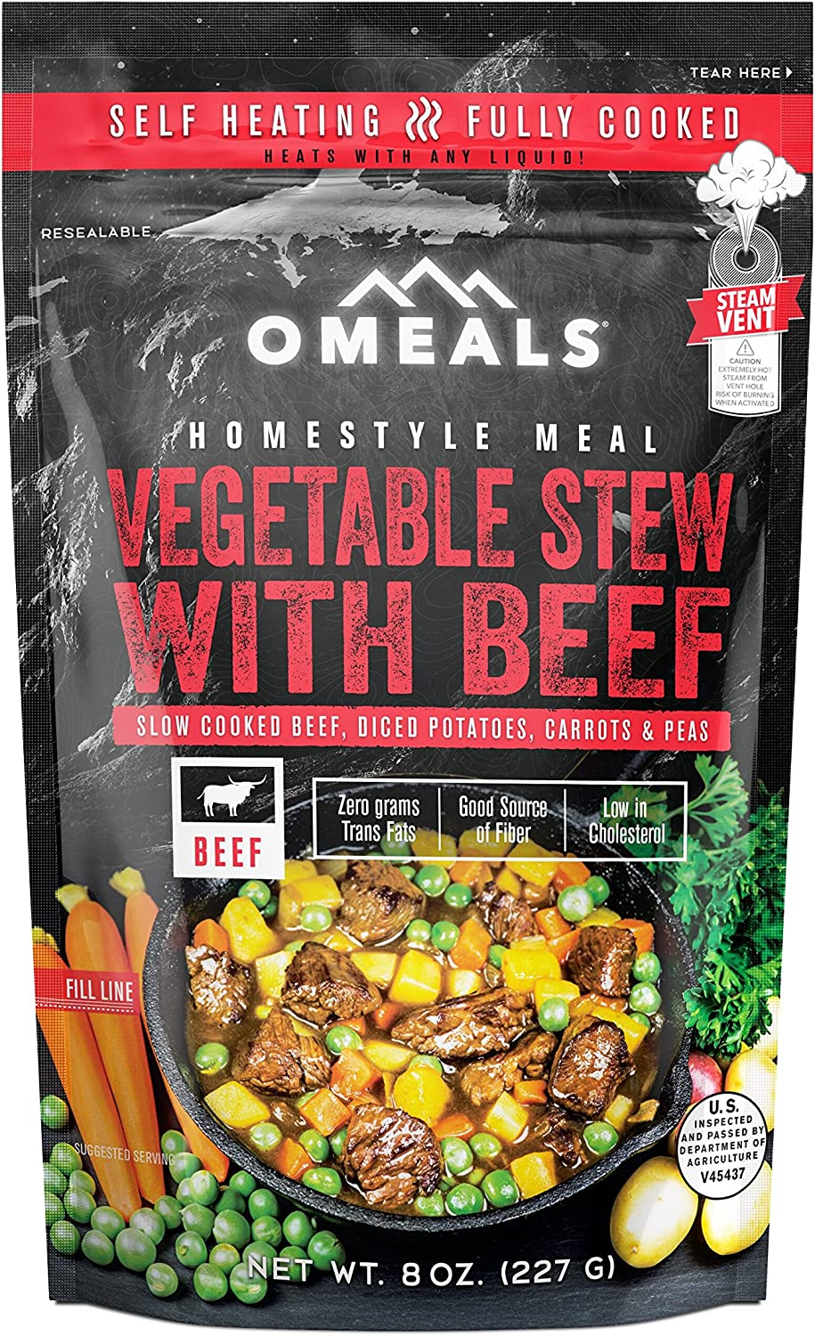 OMEALS Vegetable Beef Stew - Homestyle Meals