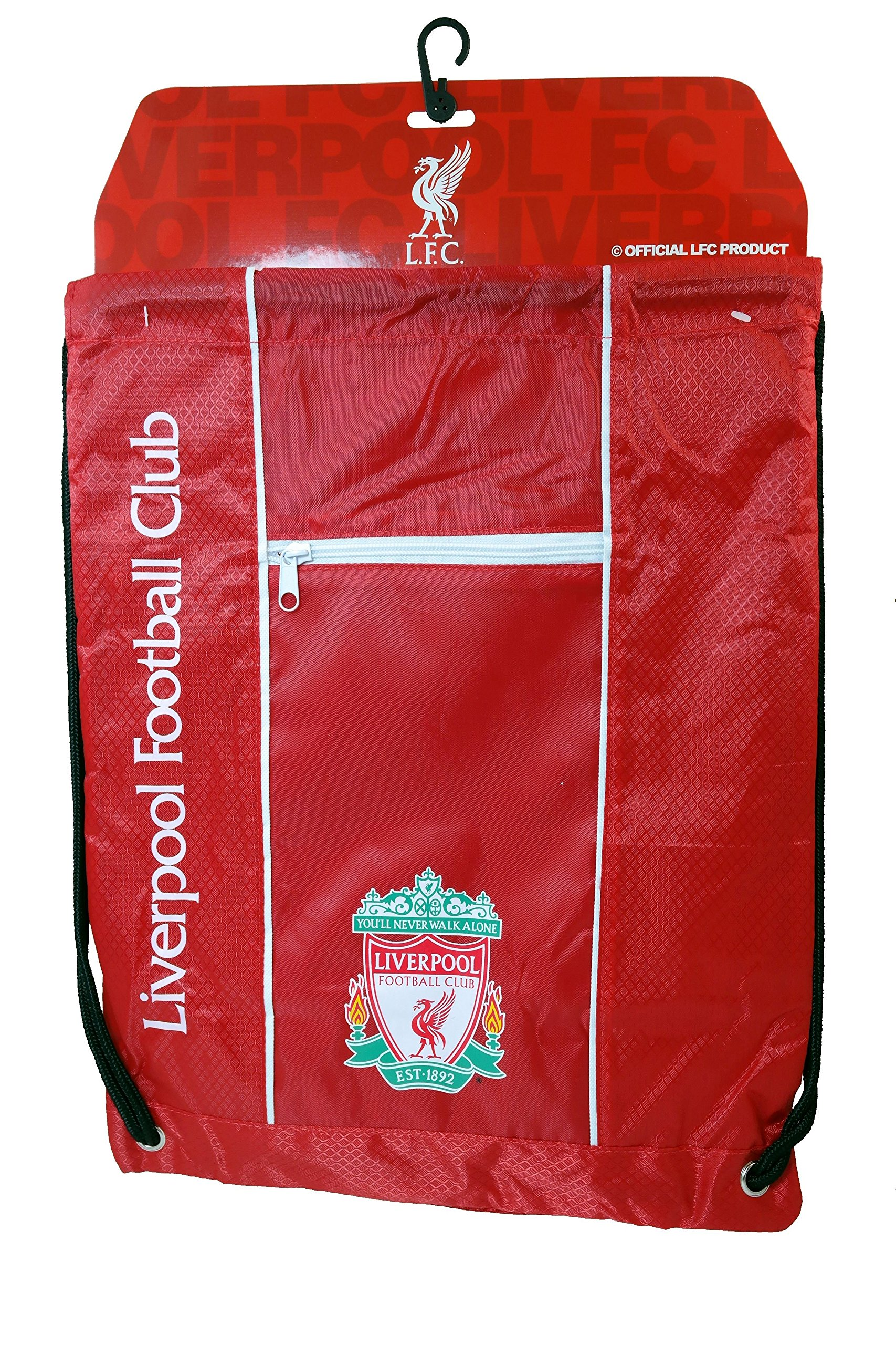 Liverpool FC Authentic Official Licensed Soccer Drawstring Cinch Sack Bag 001