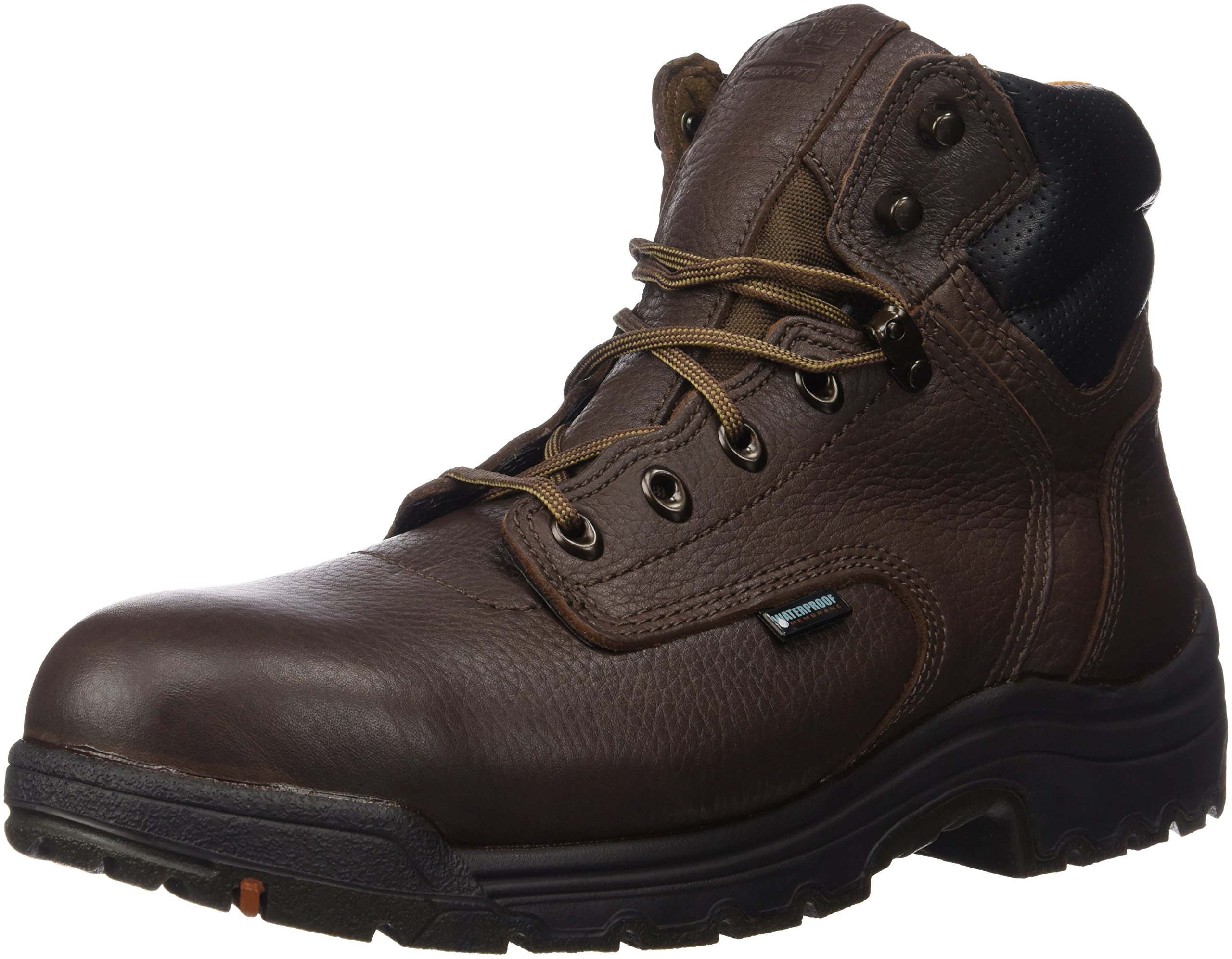 Timberland PRO Men's 26078 Titan 6'' Waterproof Safety-Toe Work Boot,Dark Mocha,12 M