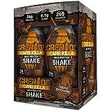 Grenade Carb Killa 330ml Fudge Brownie High Protein Shake Bottles, Pack of 4