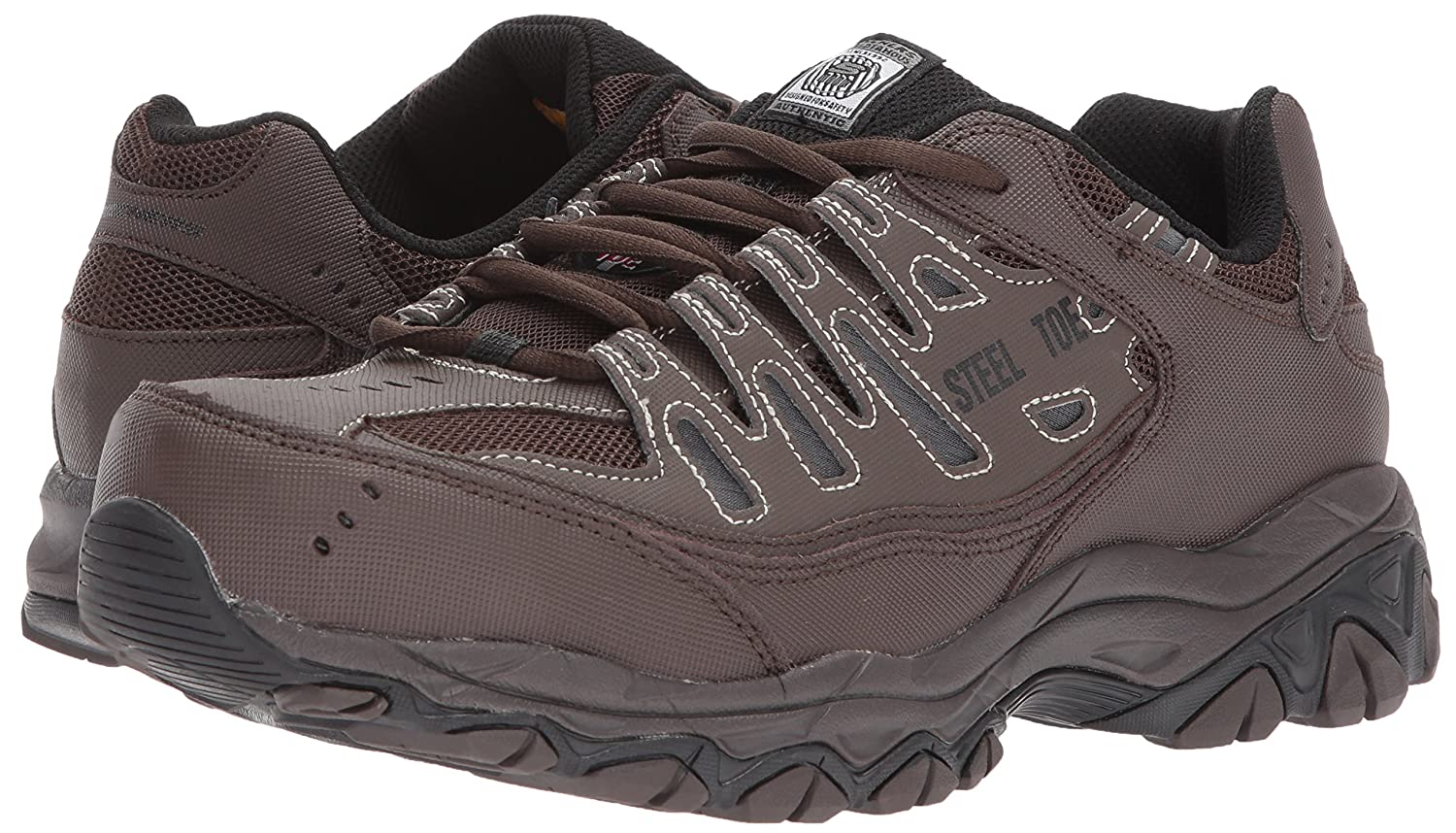 657336a33aa Skechers for Work Mens Cankton Industrial Shoe,Brown,13 Medium US ...