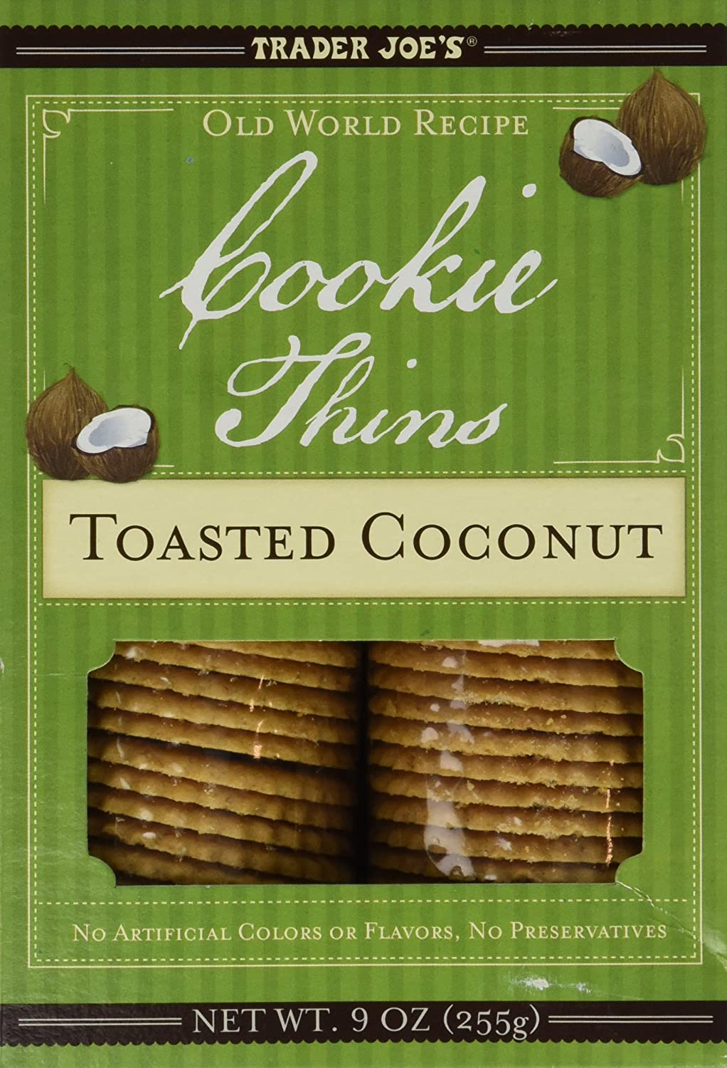 Amazon.com: Trader Joe\'s Old World Recipe Toasted Coconut Cookie Thins