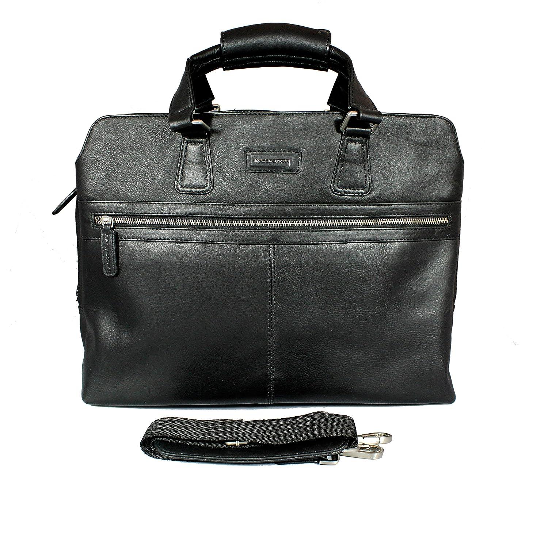 """9bbbc57fd4 Second May® 100% Genuine Leather 18"""" inch Laptop Messenger Bag Men s  Classic Genuine Leather Business Handbag Briefcase Shoulder Messenger  Satchel Bag For ..."""