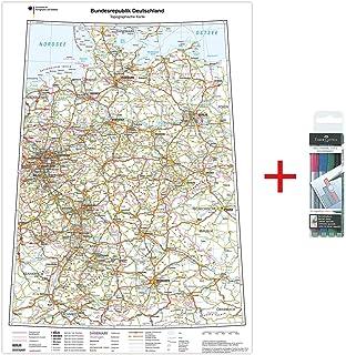 Lysco Deutschlandkarte Din A2 Format Gerollt Landkarte Deutschland