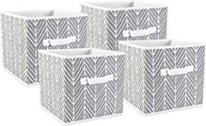 DII Foldable Fabric Storage Bins for Nursery, Offices, Home, Containers are Made to Fit Standard Cube Organizers, Small S/4, Gray, 4 Count