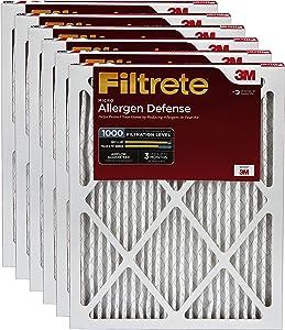 Filtrete AD28-6PK-2E Micro Allergen Defense AC Furnace Air Filter, 18 x 30 x 1, 6 Count