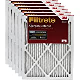 Filtrete Micro Allergen Defense HVAC Air Filter, MPR 1000, 14 x 14 x 1, 6-Pack
