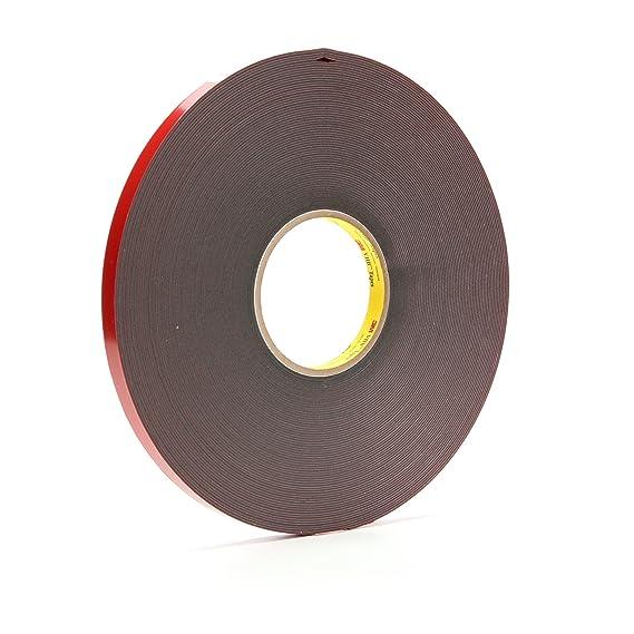 "3M 4943F VHB Gray Double-Sided Foam Bonding Tape 1//2/"" x 144 yds 45 mil"