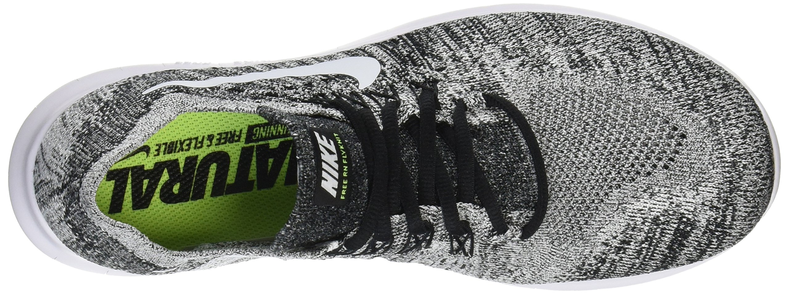 sale retailer c32df e05cf NIKE Men s Free RN Flyknit 2017 Black White Running Shoes (10, Black White-Volt)  - 880843 003   Basketball   Clothing, Shoes   Jewelry - tibs