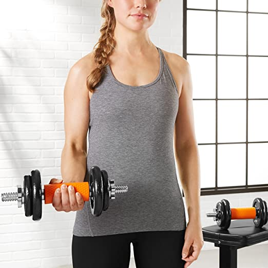 AmazonBasics Thick Dumbbell and Barbell Grips: Amazon.es: Deportes ...