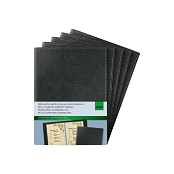 Bürobedarf mappen  Sigel SM135/5 Speisekarten-Mappen mit Buchschrauben-Bindung für A5 ...