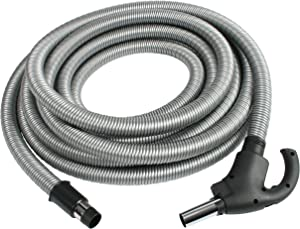 Cen-Tec Systems 90660 Central Vacuum 50 Foot Low Voltage Hose with Button Lock Stub Tube, Ft