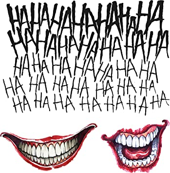 DC Comics Suicide Squad Joker Costume Tattoo Kit Adult One Size ...
