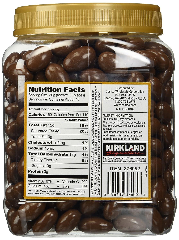 Amazon.com: Kirkland Signature Milk Chocolate Roasted Almonds, 48 Ounce:  Grocery & Gourmet Food