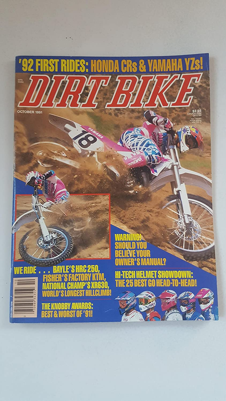 Dirt Bike Magazine October 1991 Honda Crs Yamaha Yzs Hrc Pit Kitchen Dining