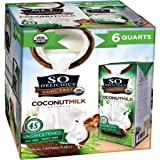 So Delicious Dairy Free Organic Coconutmilk Beverage, Unsweetened, 32 oz (Pack of 6)