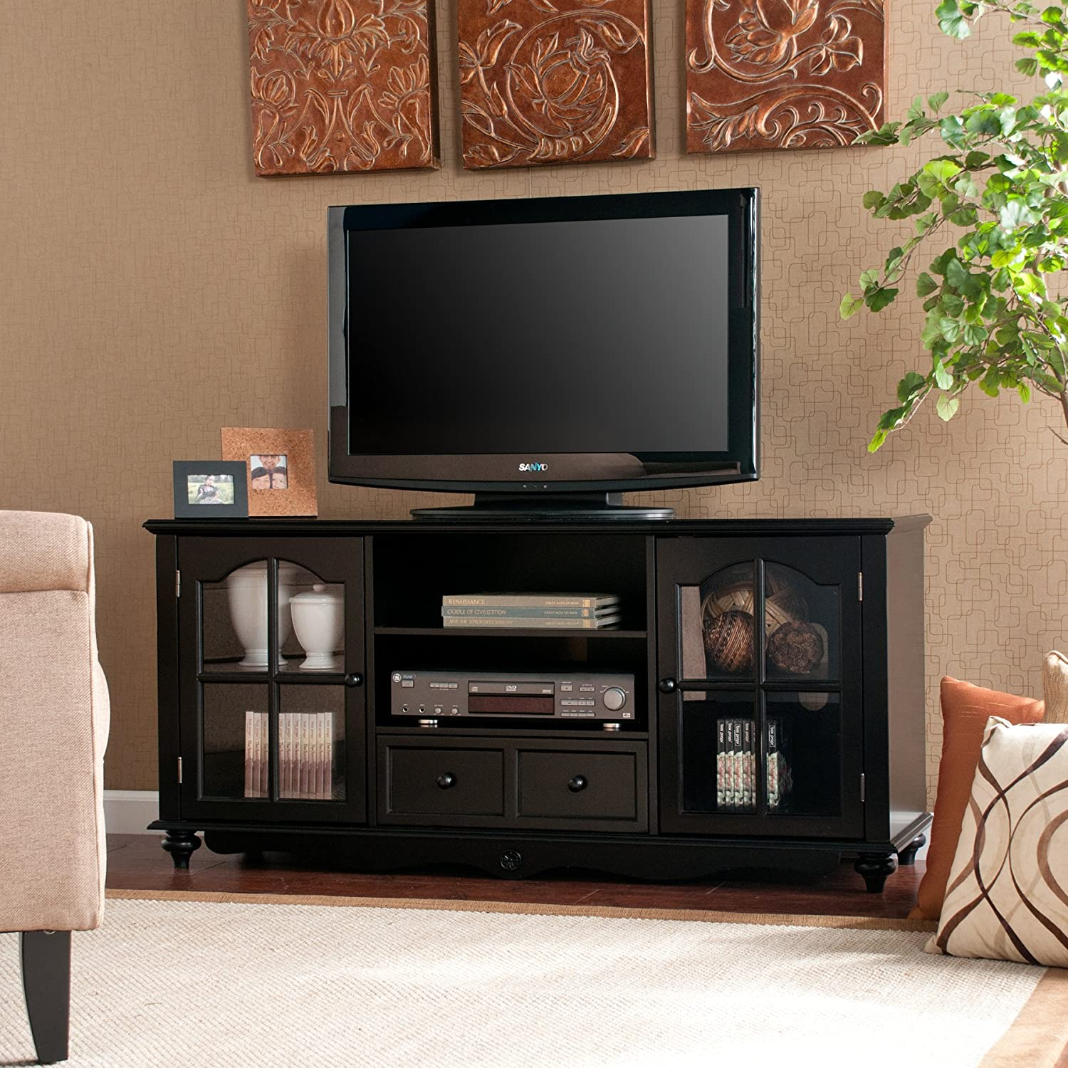 amazoncom coventry  tv console  antique black kitchen  dining -