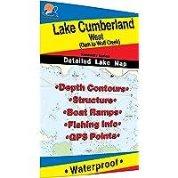 Lake Cumberland-West Fishing Map (Dan to Wolf Creek)