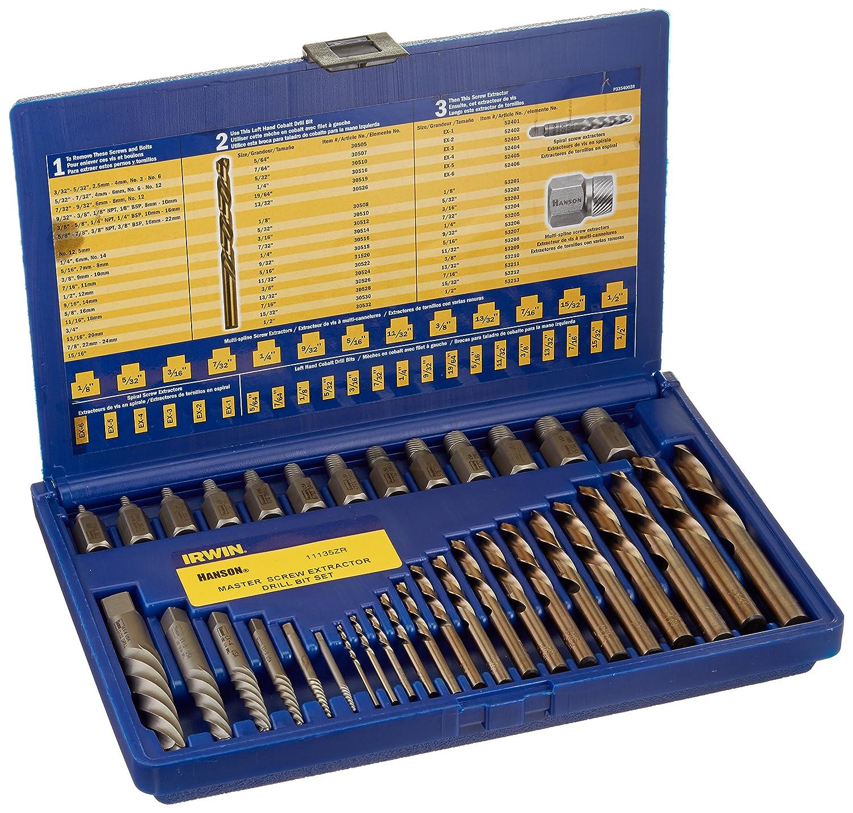 Irwin Tools Hanson Screw Extractor and Drill Bit Set, 35 Piece, 11135ZR