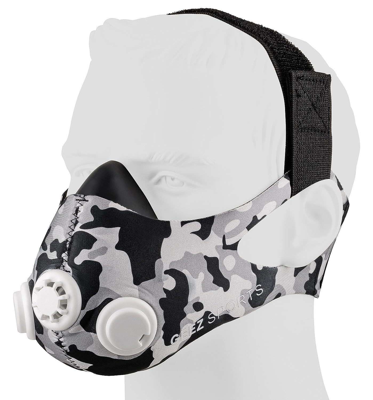 Máscara de entrenamiento profesional GEEZ para entrenamiento de alto nivel. Mejore la forma física con la máscara de hipoxia. Máscara de entrenamiento.
