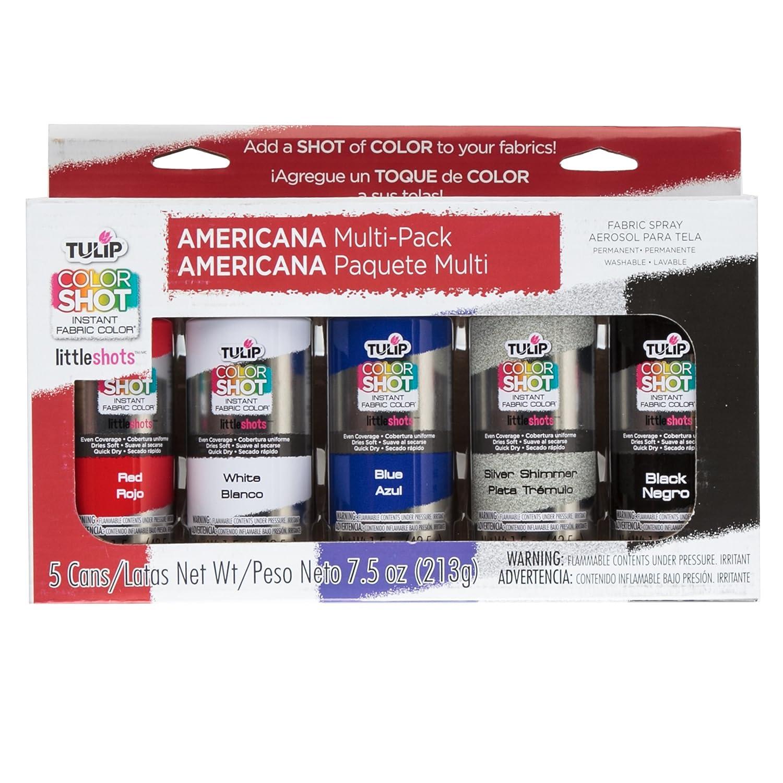 Amazon.com: Tulip 34990 Instant Color Shots Americana Fabric Paint (5 Pack)