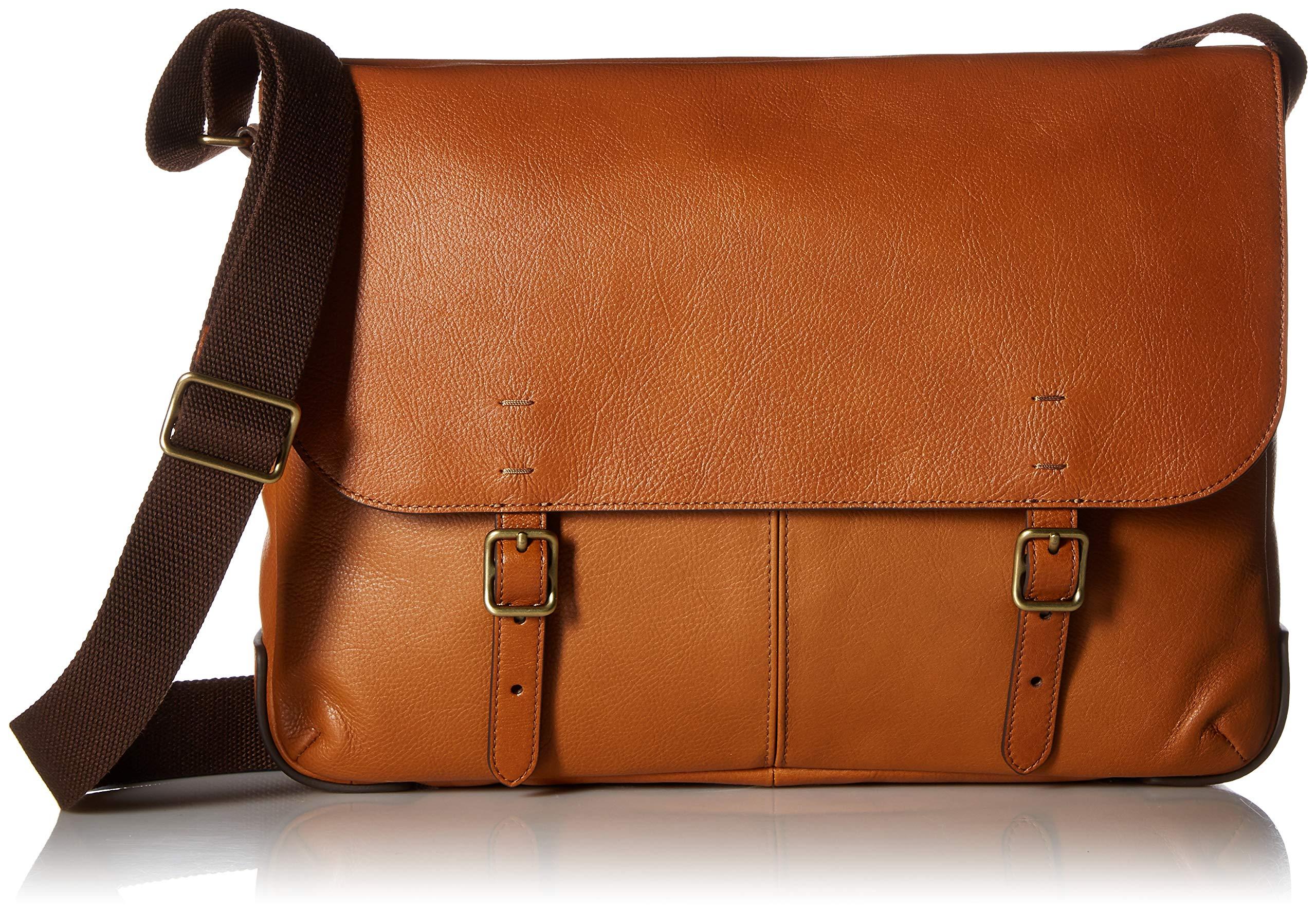 Fossil Men's Buckner Laptop Messenger Bag Brown One Size